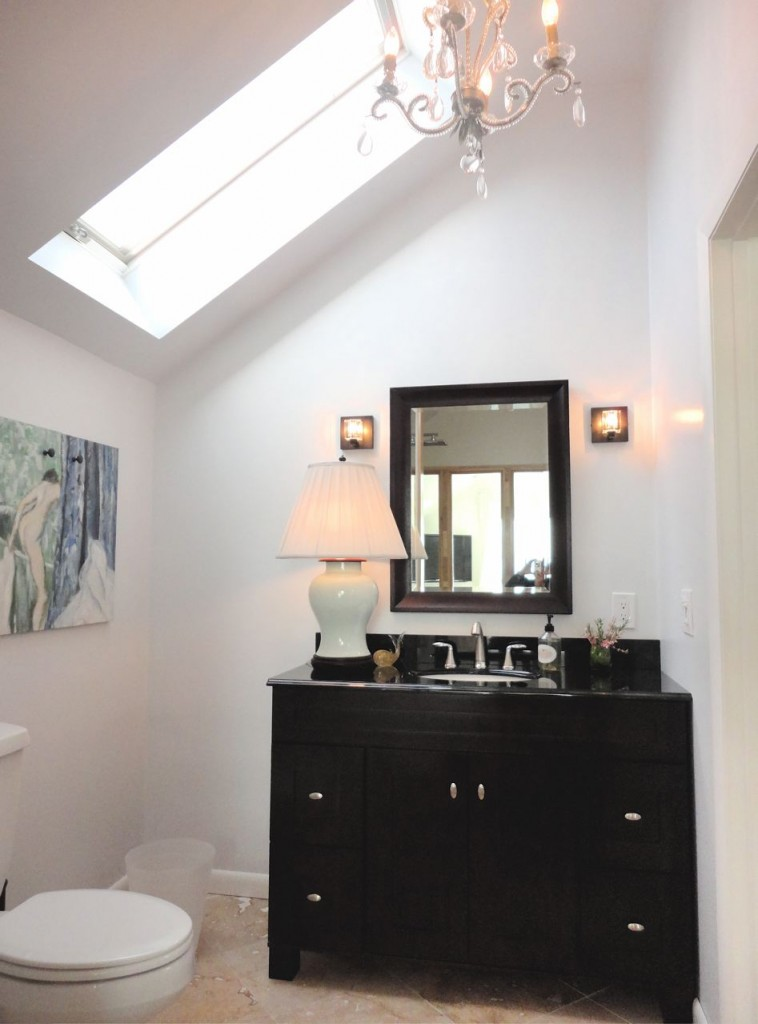 Bathroom Vanity with skylight